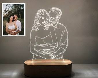 Customized Photo 3D Night Light Lamp