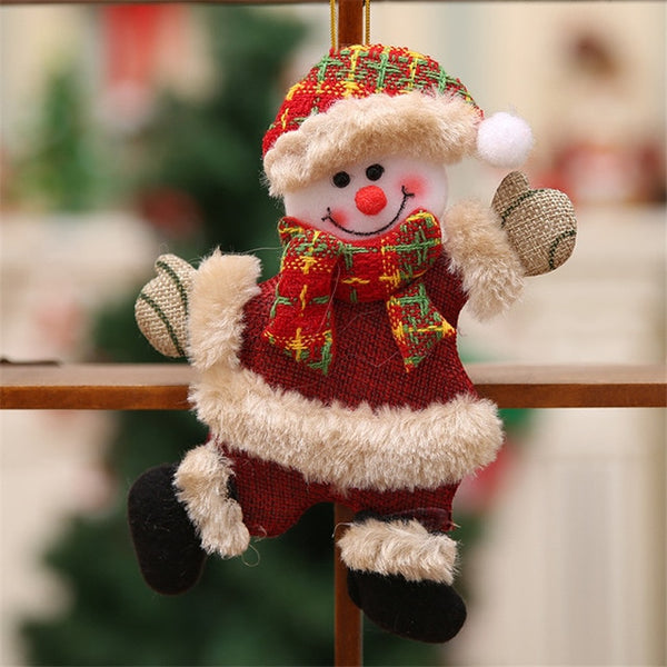 Merry Christmas Ornaments Christmas Gift Santa Claus Snowman Tree Toy Doll Hang Decorations
