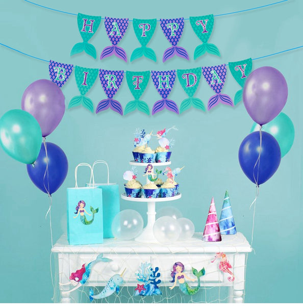 The Little Mermaid Birthday Party Decor Supplies