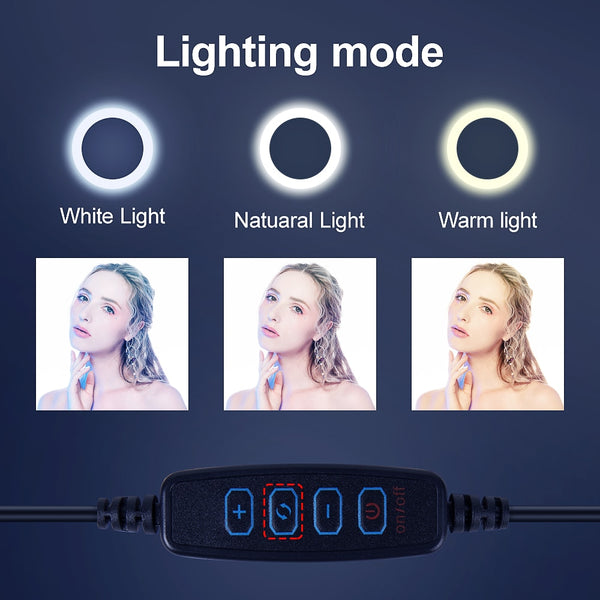 Video Light Dimmable LED Selfie Ring Light