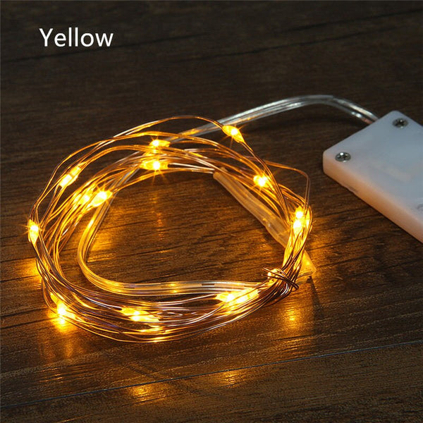 20 LED Copper Wire LED String Lights Christmas Wedding Home Party Decorations
