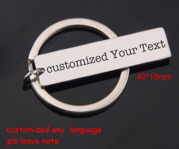 Custom Engraved Name, Date, Sentence, Words Keychain