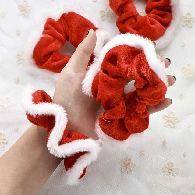 2Pcs/set Christmas Scrunchies For Women