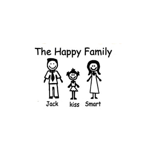 Personalised Fashion Family Keychain Engraved The Happy Family