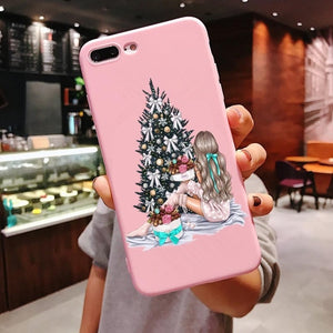 Unique Christmas Tree blessing iPhone Case