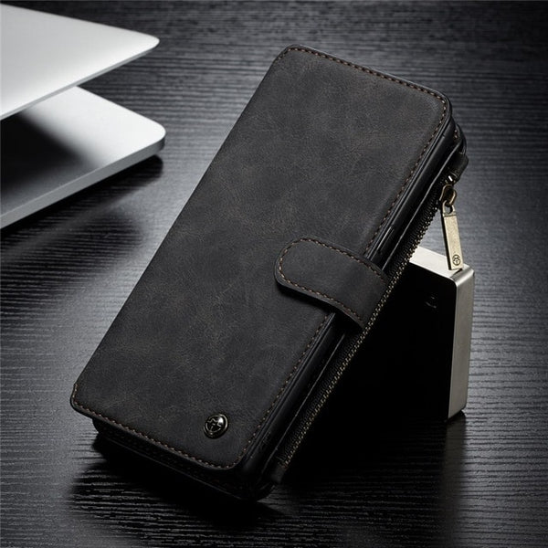 Genuine Leather Wallet Case for iPhone