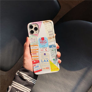 Traveler iPhone Case with Travel Tickets