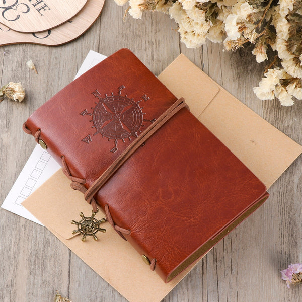 Vintage Leather Notebook Diary Notepad