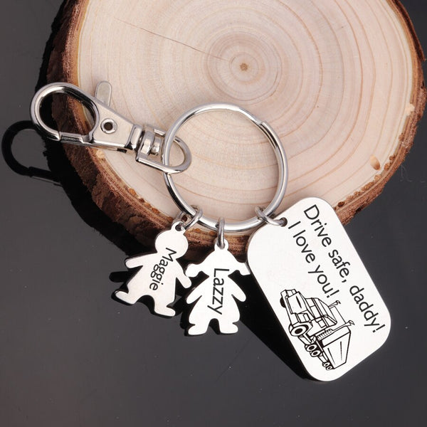 Customized Daddy Drive Safe Key chain Father Gifts