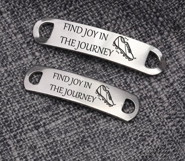 2pcs Engraved Personalized Shoe Tags