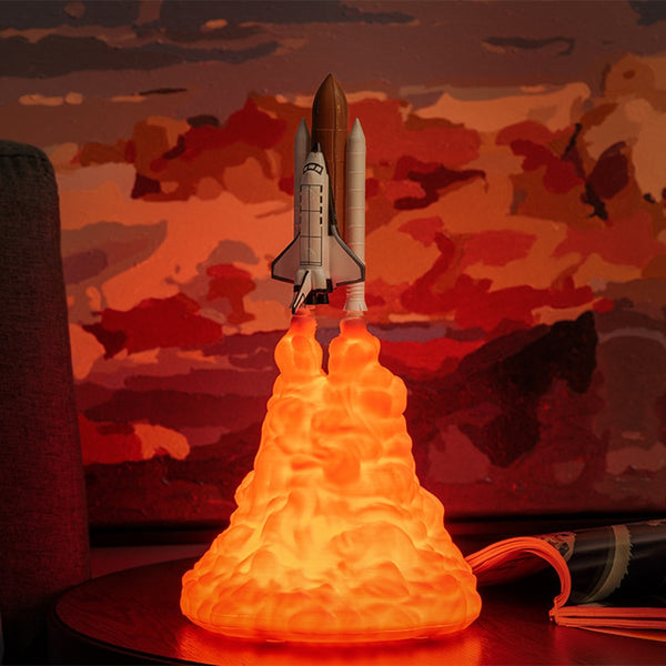 Space Shuttle Lamp Rechargeable Rocket Lamp