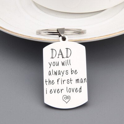 Cute Father's Day Keychain Gift