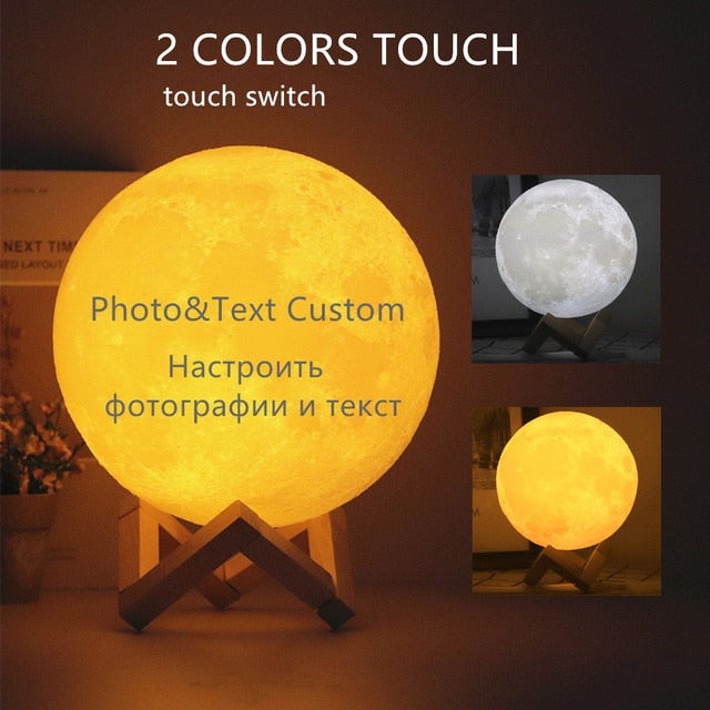 3D Personalized Photo Moon Lamp New