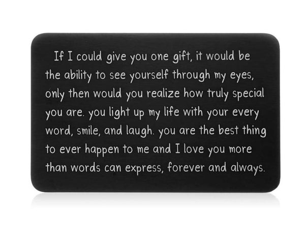 Personalized Wallet Insert Card For Him
