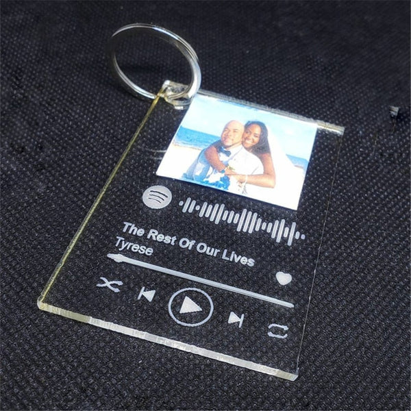 Personalized Photo And Song Spotify Keychain