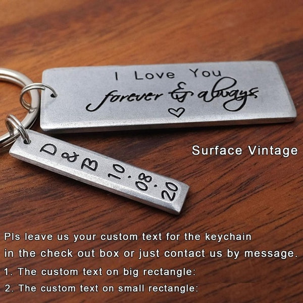 Personalized Custom Text Keychain With Custom Box