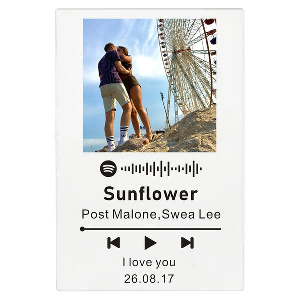 Personalized Photo & Scannable Spotify Code Plaque