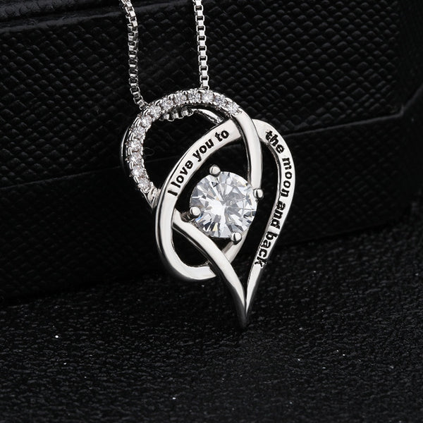 Mother Heart Crystal Pendant Necklace