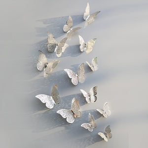 12pcs 3D Butterfly Wall Decorations Stickers