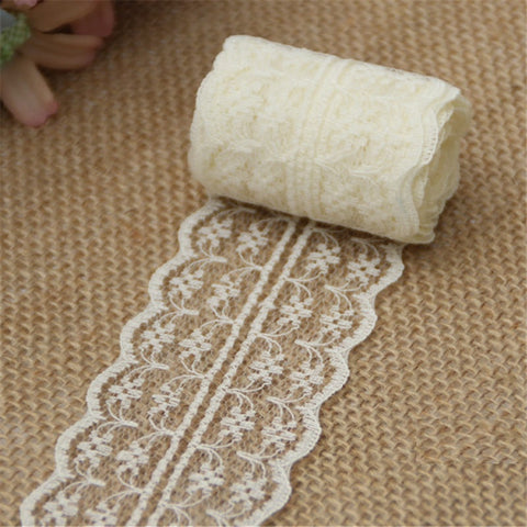 Lace Ribbon Lace Trim Fabric Rustic Handcrafted Embroidered DIY Material  For Christmas  Wedding Decoration