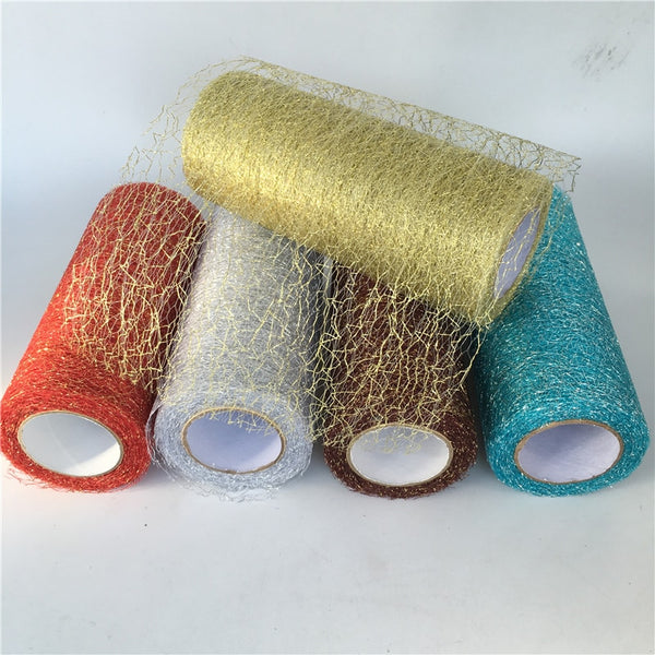 9.2m/roll Organza Tulle Roll Spool Fabric Ribbon Christmas Tree Decoration ,DIY Christmas Gift Craft
