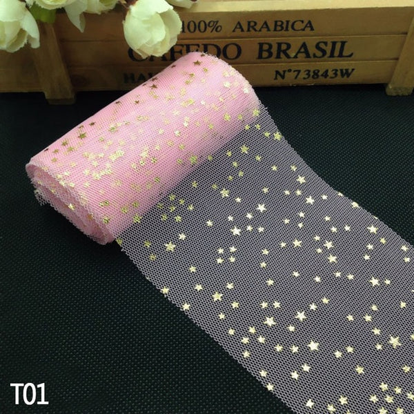 Soft Sequins Star Tulle Rolls Fabric Glitter Christmas Wedding Birthday Decoration  DIY Craft