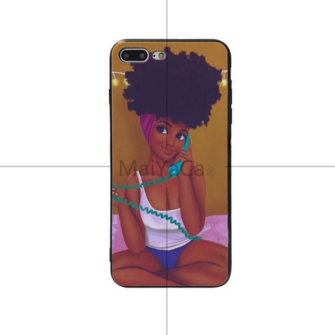 USA Black Head Unique iPhone Case for north american