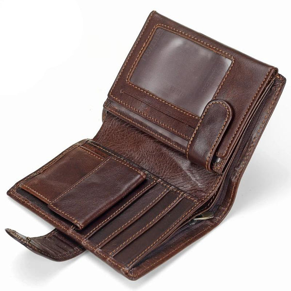 Multifunctional Genuine Leather Vintage Men Wallet