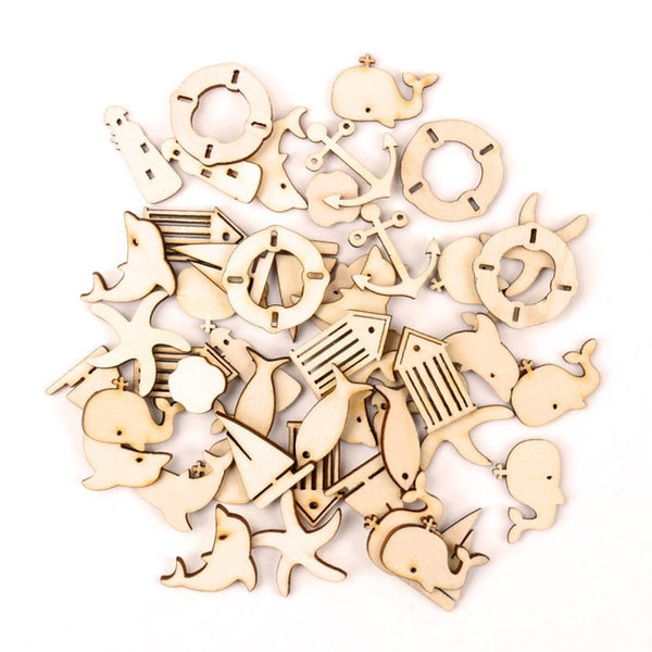 20 pcs Handmade Wooden Christmas Hanging Ornament Accessory For Christmas Tree Decoration