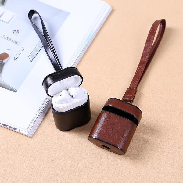Leather Case For iPhone Airpods