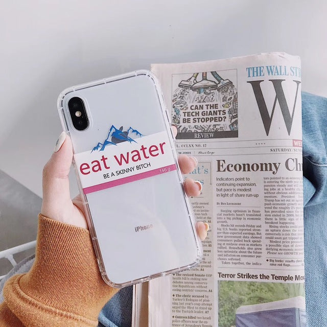 Funny Retro Pattern Evian Water iPhone Case