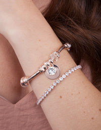 Rose Gold Multi Bead Bracelet - link has visual effect only