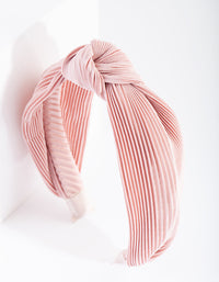 Pink Pleated Turban Headband - link has visual effect only