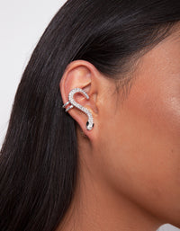 Silver Diamante Snake Cuff Earring - link has visual effect only