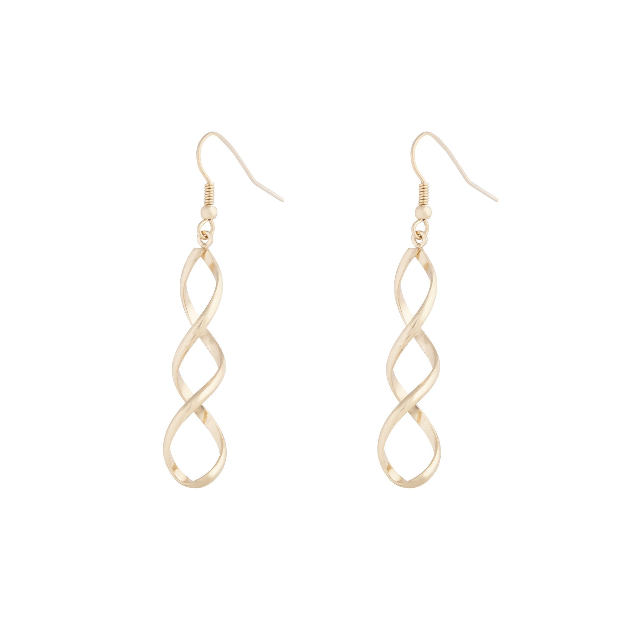 Gold Wave Drop Earring