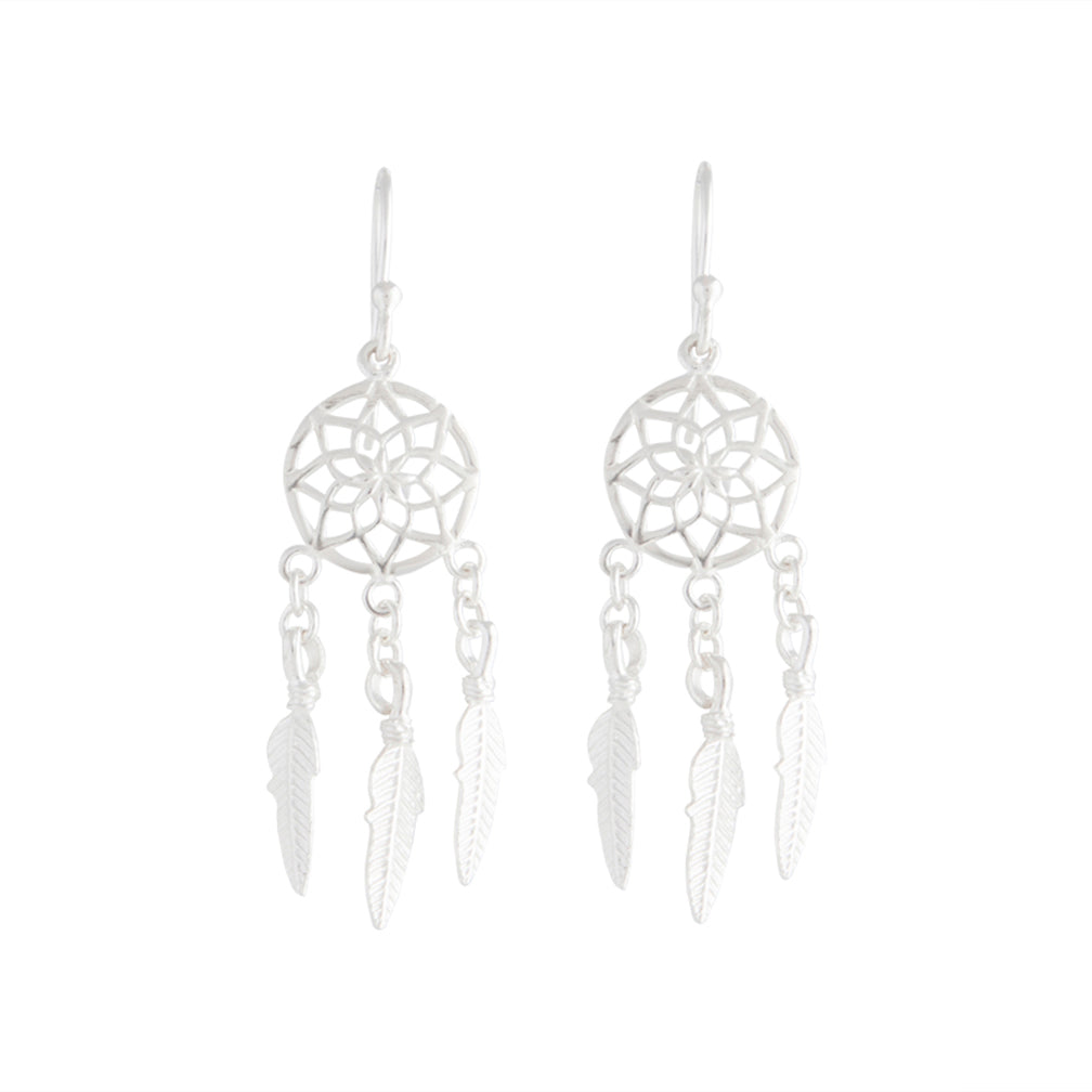 Sterling Silver Dreamcatcher Earring