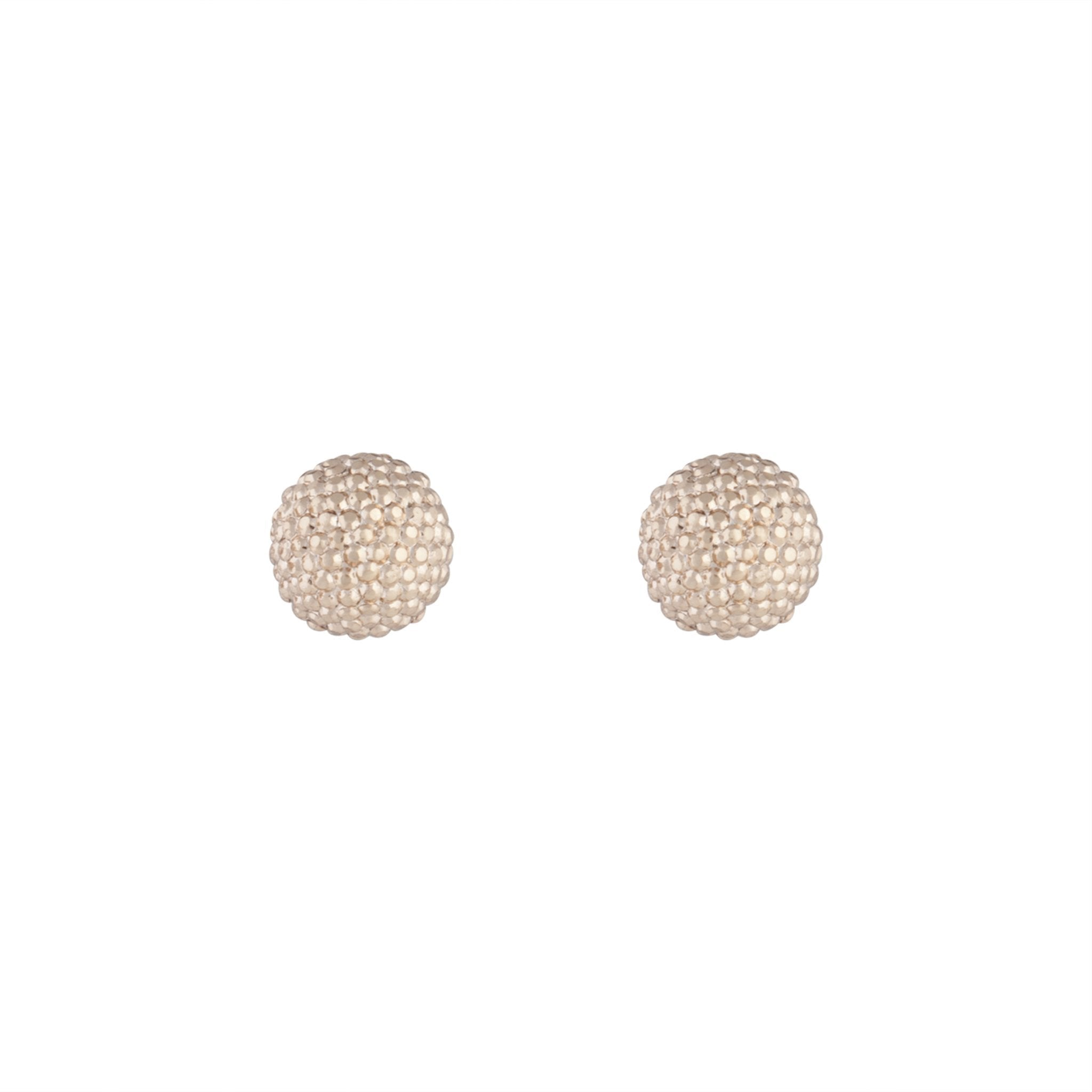 Rose Gold Texture Sparkle Ball Stud Earrings