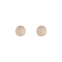 Rose Gold Texture Sparkle Ball Stud Earrings - link has visual effect only