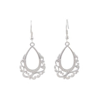 Silver Ornate Teardrop Earring - link has visual effect only