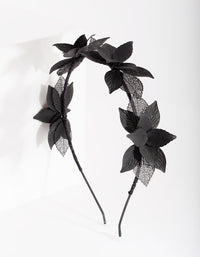 Black Cluster Leaf Headband - link has visual effect only