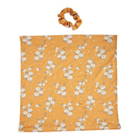 Mustard Floral Scarf Scrunchie - link has visual effect only