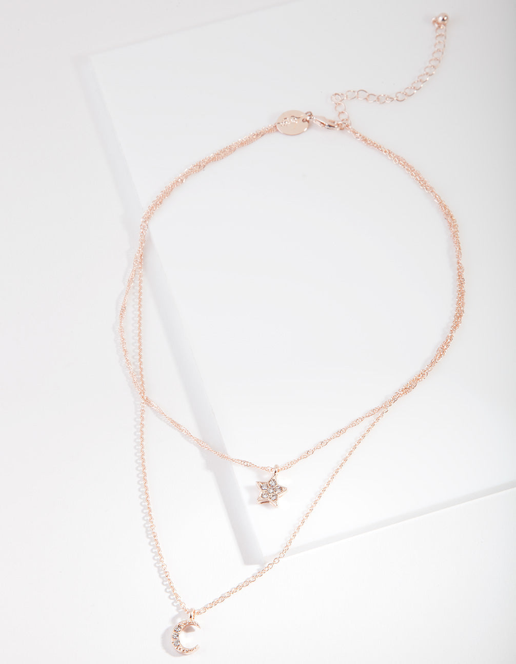 Rose Gold Starry Night Charm Necklace