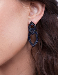 Double Leaf Sapphire Earrings - link has visual effect only