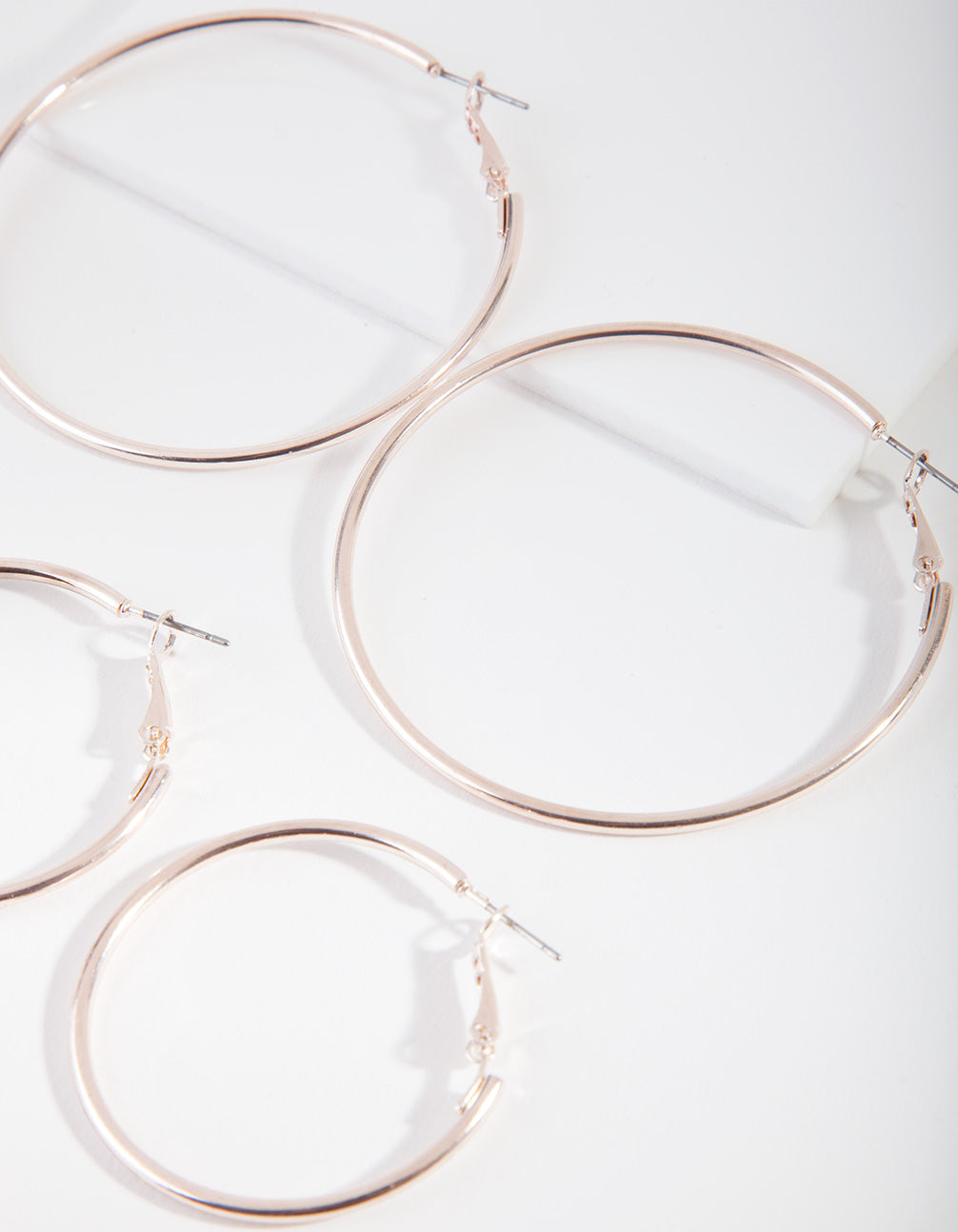 Rose Gold Double Size Hoop Earring Pack