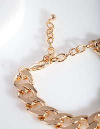 Gold Chunky Chain Bracelet - link has visual effect only