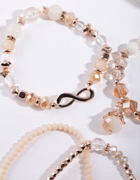 Rose Gold Multi Bead Bracelet Pack - link has visual effect only