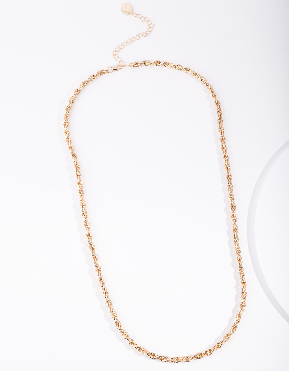 Real Gold Plated 60cm Thick Rope Necklace