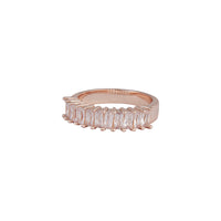 Rose Gold Cubic Zirconia Multi Baguette Band Ring - link has visual effect only
