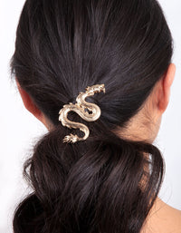 Gold Dragon Hair Clip - link has visual effect only