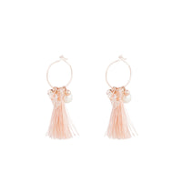 Rose Gold Mini Hoop Charm Tassel - link has visual effect only